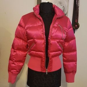 Express Bomber Puff Jacket with Zippers